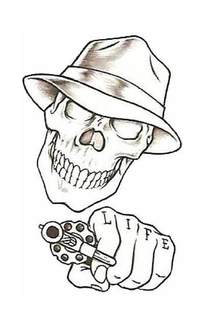 Tattoo Easy Drawings Beginners Skull Tattoos Designs