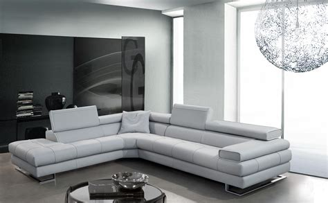 Wonderful L Shaped Sofa Design Come With White Comfy Modern Tufted Leathered Sofa And White
