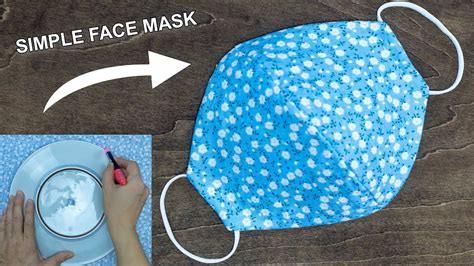 fabric face mask  home diy face mask  sewing