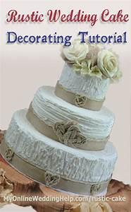 Elegant Rustic Wedding Cake Tutorial (no decorating