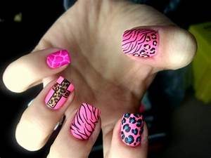 animal print, fingers, hand, nail art, nail polish - image ...