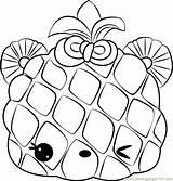 Coloring Apple Piney Num Pages Noms Coloringpages101 sketch template