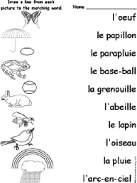 Spring - Match the French Words to the Pictures ...