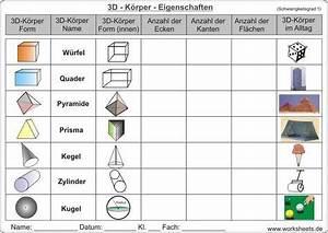 Prismen Berechnen 8 Klasse : 3d k rper eigenschaften unterricht pinterest mathe schule und mathematik ~ Themetempest.com Abrechnung