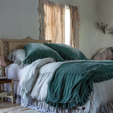 shabby chic bedding teal empress teal velvet bedding my shabby chic pinterest