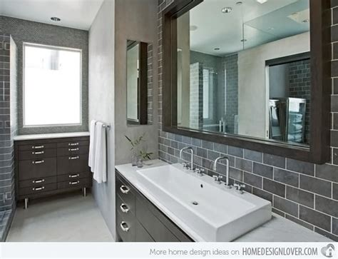 Blue And Brown Bathroom Wall Decor by A Look At 15 Sophisticated Gray Bathroom Designs Home