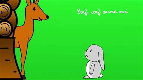 dans sa maison un grand cerf dans sa maison un grand cerf
