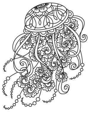 jellyfish mandala clip art art coloring pages designs