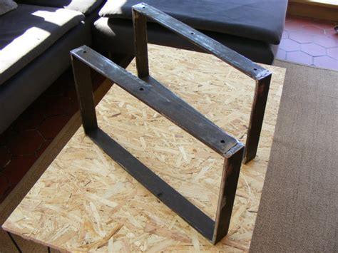 bureau pour ordinateur pas cher pieds de table basse en fer plat hauteur 30 ou 35 cms