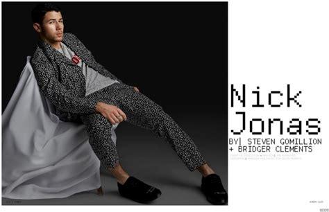 Nick Jonas Models Black Wardrobe For Kode Cover Shoot
