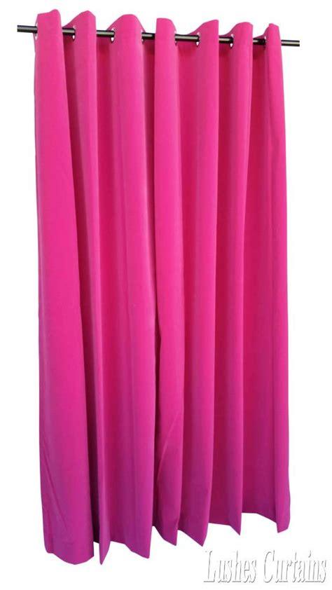 pink 72 inch high velvet curtain panel w ring grommet top