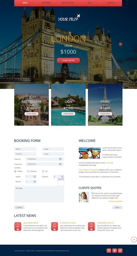 travel agency  website template  templates