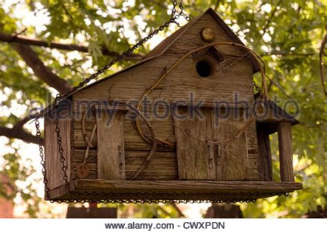 hand made wooden bird houses for sale at a german winter