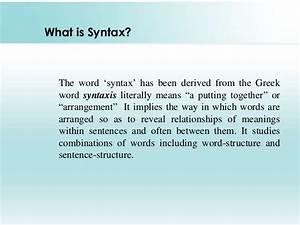 Syntax English 12