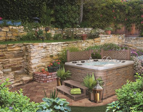 Backyard With Tub by Tub Landscaping For The Beginner On A Budget