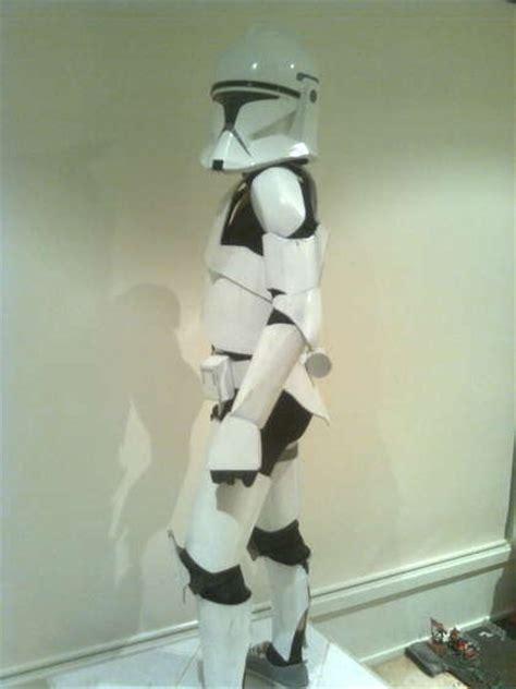 childs clone trooper costume  cardboard