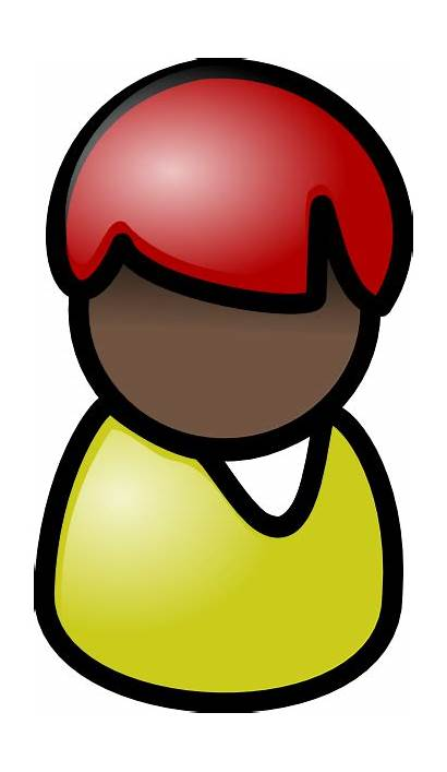 Clip Person Clipart Hair Symbol Vector Cliparts
