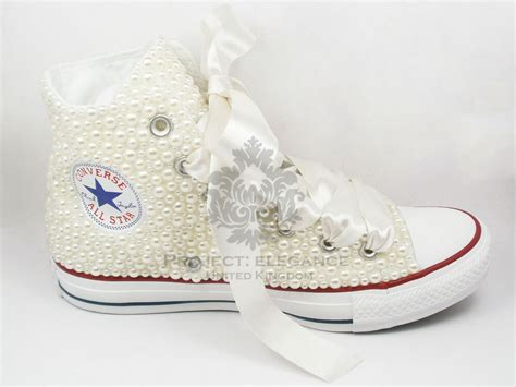 Ivory Wedding Converse Pearl Bridal Shoes Custom Converse