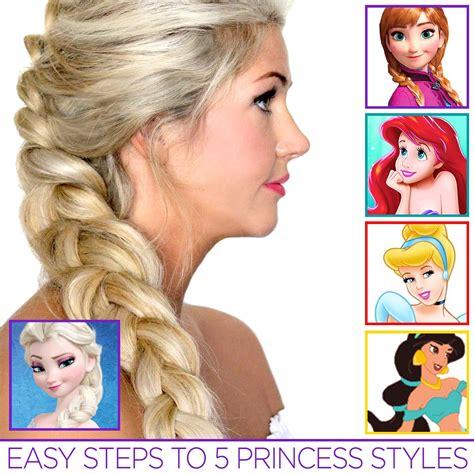 Easy Princess Hairstyles For by 5 Easy Princess Hair Tutorials Disney Princess