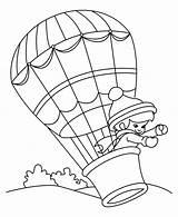 Balloon Coloring Air Balloons Printable Transportation Clipart Colouring Printables Library Popular Clip Picolour Coloringhome sketch template
