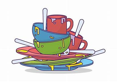 Dishes Dirty Clipart Vector Cliparts Clip Library