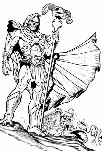 Deviantart Coloring Skeletor Universe He Masters Pages