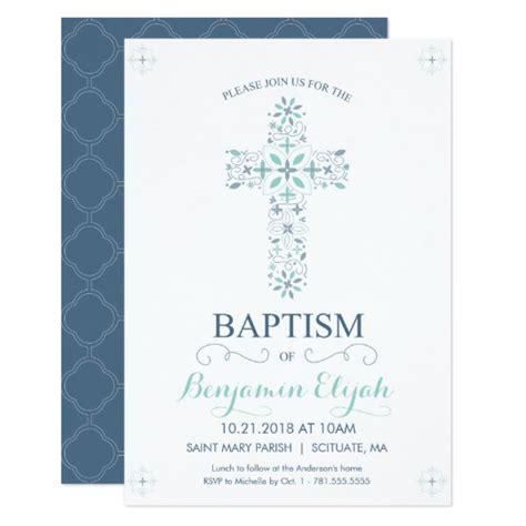christening baptism invitation baby boy invite zazzlecom