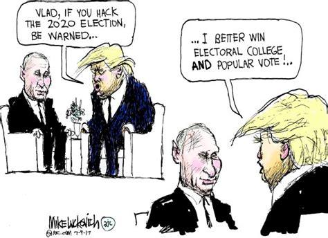 drawn   news trump  putin talk election meddling