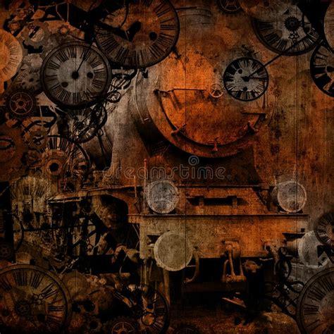 time steam engine train stock illustration