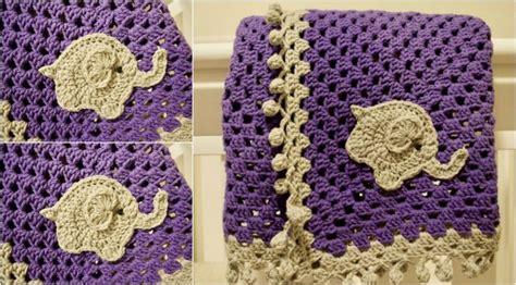 elephant blanket  crochet pattern yarn hooks