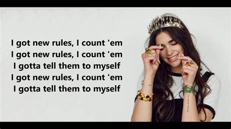 Dua Lipa  New Rules (lyrics) Youtube