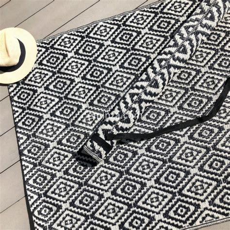 tapis d ext 233 rieur 120 x 180 cm aquatika noir textile d ext 233 rieur eminza