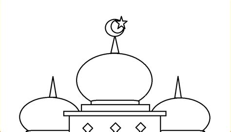 mewarnai gambar masjid yang bagus