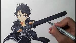 Drawing Kirito - Sword Art Online