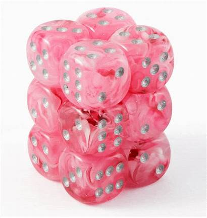 Dice Glow Pink Ghostly D6 Dark Elf