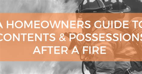 homeowners guide  contents possessions   fire