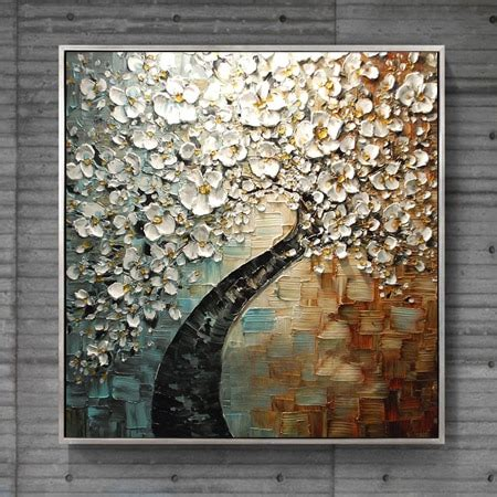 hand paint modern oil painting palette knife textured