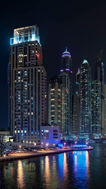 Dubai Night Marina Sea Lake Water Travel