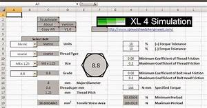 Spreadsheets 4 Simulation  Bolt Preload Calculators