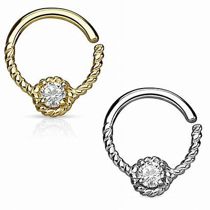 Daith Cartilage Gold Hoop Ring 14k Helix