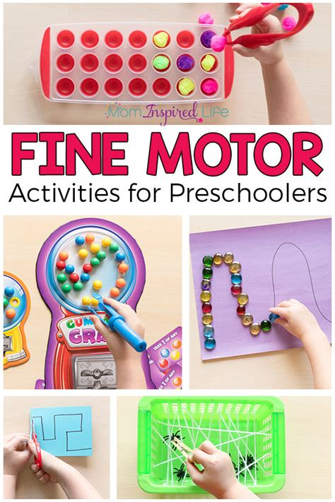 favorite motor activities for preschoolers 869 | Fine Motor Activities for Preschoolers Pin