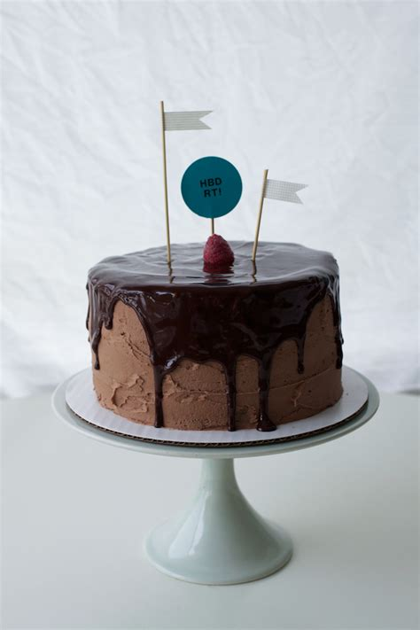 drippy chocolate nutella birthday cake coco cake land