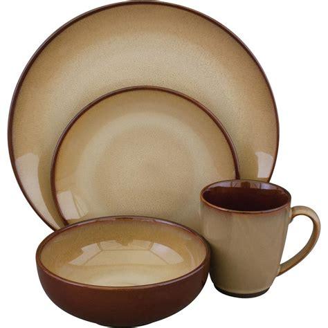 brown and green kitchen corelle splendor 16 vitrelle dinnerware set 1101053 4933