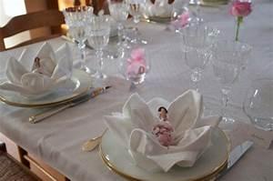 Décoration Table Bapteme Fille : d coration de bapt me en rose et blanc cuisine bien tre ~ Farleysfitness.com Idées de Décoration