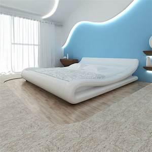 Lit En 180 : acheter lit en simili cuir 180 x 200 cm blanc avec le matelas pas cher ~ Teatrodelosmanantiales.com Idées de Décoration
