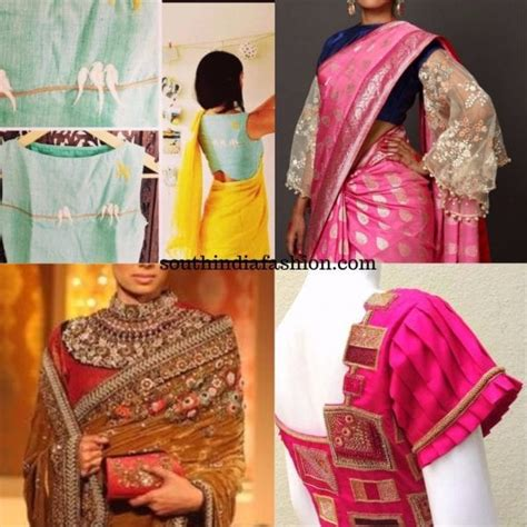 statement blouses a must to make your saree looks interesting