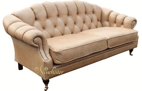Settee Leather by 3 Seater Chesterfield Leather Sofa Settee