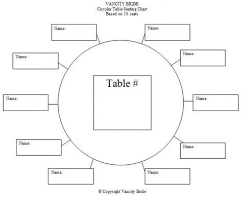 Table Assignment Template Google Search Wedding
