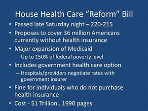 """PPT - House Health Care """"Reform"""" Bill PowerPoint ..."""
