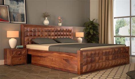 buy morse bed  storage king size teak finish